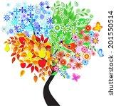 seasons tree  spring  fall ... | Shutterstock .eps vector #201550514