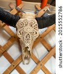 Deer Skull With A Beautiful...