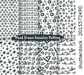 set of trendy hand drawn... | Shutterstock .eps vector #2015572490