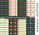 set of trendy hand drawn... | Shutterstock .eps vector #2015572493