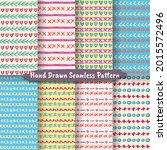 set of trendy hand drawn... | Shutterstock .eps vector #2015572496