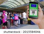 no active qr code. person in... | Shutterstock . vector #2015584046