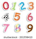funny comic numbers vector...   Shutterstock .eps vector #201558410