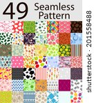 49 Seamless Pattern Set Vector...