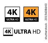 set of 4k ultra hd symbol on... | Shutterstock .eps vector #2015608643