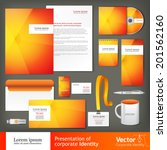 stationery set design ... | Shutterstock .eps vector #201562160