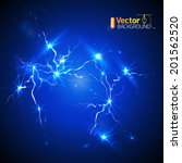 lightning strike | Shutterstock .eps vector #201562520