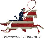 usa flag and the silhouette of... | Shutterstock .eps vector #2015627879