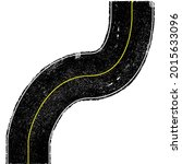 grunge textured curved road ....   Shutterstock .eps vector #2015633096