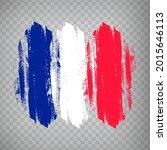 flag of french republic  brush...