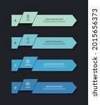 infographic template with 4...   Shutterstock .eps vector #2015656373