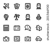 travel web icons set | Shutterstock .eps vector #201566930