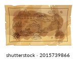 fantasy old map vector... | Shutterstock .eps vector #2015739866