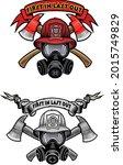 firefighter tattoo. fireman... | Shutterstock .eps vector #2015749829