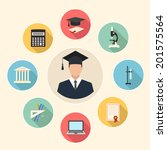 education flat style... | Shutterstock .eps vector #201575564