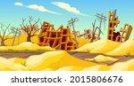 destroyed buildings after... | Shutterstock .eps vector #2015806676