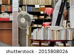 row of many old used books...   Shutterstock . vector #2015808026