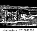 Vector Illustration  Monochrome ...