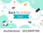 back to school background.... | Shutterstock .eps vector #2015849783