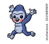 Cute Baby Gorilla Cartoon...