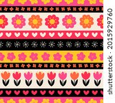 cute floral seamless pattern...   Shutterstock .eps vector #2015929760