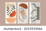 mid century modern triptych... | Shutterstock .eps vector #2015933066