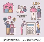 a man and a woman who worry... | Shutterstock .eps vector #2015948930