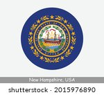 new hampshire round circle flag.... | Shutterstock .eps vector #2015976890