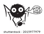 vector cute spider with candy... | Shutterstock .eps vector #2015977979