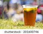 Pimms Cocktail On A Lawn