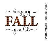 Vector Autumn Quote Happy Fall...