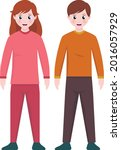 boy and girl brother and sister   Shutterstock .eps vector #2016057929