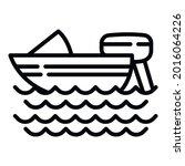 snorkeling motor boat icon....   Shutterstock .eps vector #2016064226