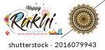 happy raksha bandhan indian...   Shutterstock .eps vector #2016079943
