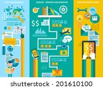 flat style ui icons to use for... | Shutterstock .eps vector #201610100