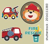 fire rescue car with funny...   Shutterstock .eps vector #2016111383