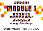 abstract geometric modern font... | Shutterstock .eps vector #2016112829