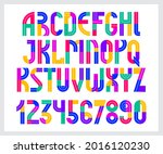 children colorful geometric... | Shutterstock .eps vector #2016120230