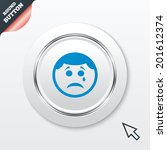 sad face with tear sign icon....