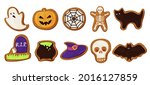 collection of colored halloween ... | Shutterstock .eps vector #2016127859