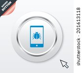 smartphone virus sign icon....