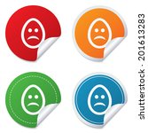sad easter egg face sign icon.... | Shutterstock .eps vector #201613283
