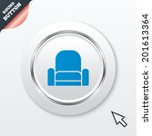 armchair sign icon. modern...