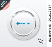 way out left sign icon. arrow...