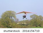 Ultralight Airplane Taking Off...