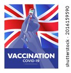 united kingdom first covid 19... | Shutterstock .eps vector #2016159590