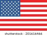 vector image of american flag  | Shutterstock .eps vector #201616466