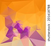 colorful triangle background ... | Shutterstock .eps vector #201618788