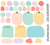 sticky note set. cute paper...   Shutterstock .eps vector #2016303449