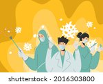 a team of doctors or medical...   Shutterstock .eps vector #2016303800